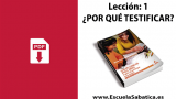 Pdf | Lección 1 | ¿Por qué testificar? | Escuela Sabática