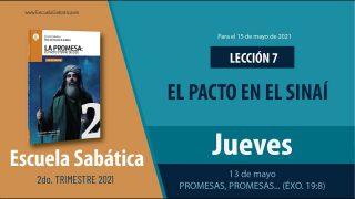 Escuela Sabática   Jueves 13 de mayo del 2021   Promesas, promesas… (Éxo. 19:8)   Lección Adultos