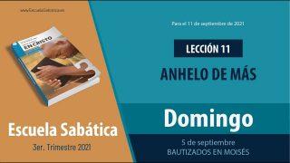 Escuela Sabática | Domingo 5 de septiembre del 2021 | Bautizados en Moisés | Lección Adultos