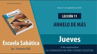 Escuela Sabática | Jueves 9 de septiembre del 2021 | La conquista de una ciudad celestial | Lección Adultos