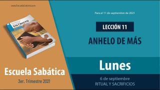 Escuela Sabática | Lunes 6 de septiembre del 2021 | Ritual y sacrificios | Lección Adultos
