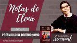 Notas de Elena | Lección 1 | Preámbulo de Deuteronomio | Escuela Sabática Semanal